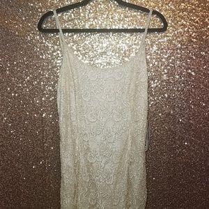 Vintage Ste'nay Ivory Beaded Dress